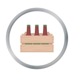 Box with beer icon in cartoon style isolated on vector image vector image