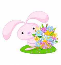 bunny girl vector image vector image