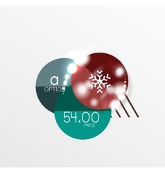 Christmas and New Year sale sticker templates vector image vector image