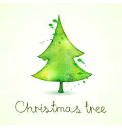 Christmas tree in watercolor trending style cute vector image