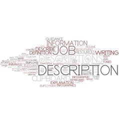 Description word cloud concept vector