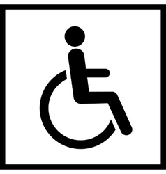 Disability icon isolated vector image