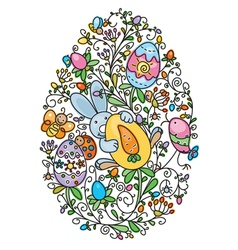 easter egg shape vector image