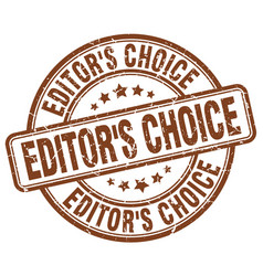 Editors choice brown grunge stamp vector