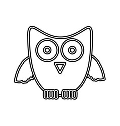 Figure sticker owl icon vector