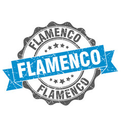 Flamenco stamp sign seal vector