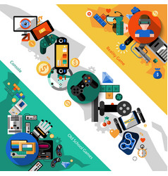 Game Banners Set vector image
