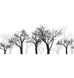 gray background with three trees vector image vector image