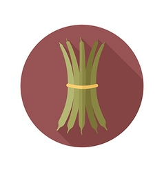 Green bean flat icon Vegetable vector image vector image