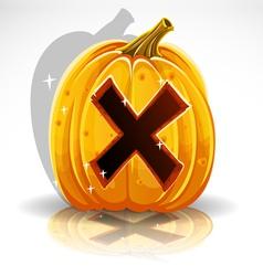 Halloween Pumpkin X vector image vector image