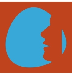 head of a man vector image vector image