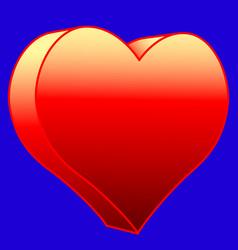 hot heart icon vector image