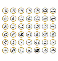 icon set vector image