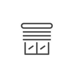 jalousie line icon vector image