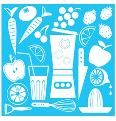 juicy summer set vector image vector image