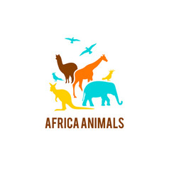 Logo of african animals vector