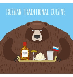 National folk food in russia russian national vector