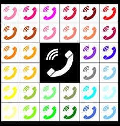 Phone sign felt-pen 33 vector