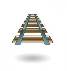 rail illustration vector image vector image
