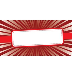 red background whith rays vector image vector image