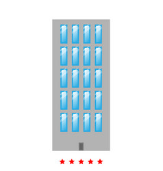 Sky tower building icon flat style vector