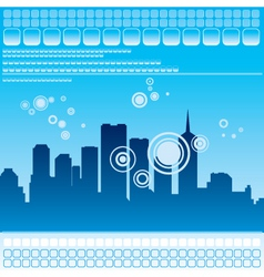urban city illustration vector image vector image