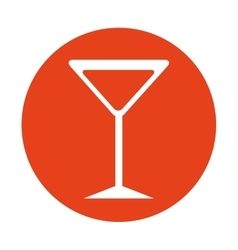 Drink glass bar isolated icon vector