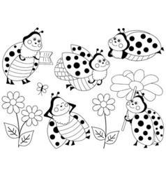 Ladybugs Set vector image