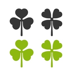 Clover leaf icons set irish symbol vector