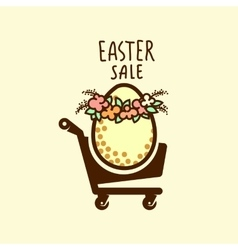 Easter sale design vector image