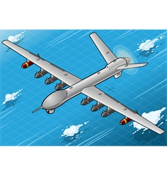 Isometric Drone Airplane Flying in Front View vector image