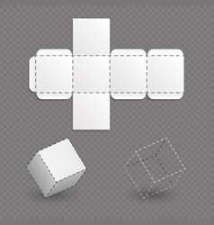 Work surface of box model cube template vector
