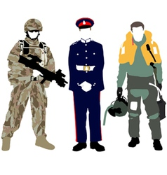 UK Military vector image