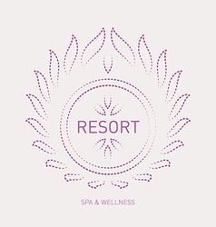 Floral logo template for wellness salon spa resort vector