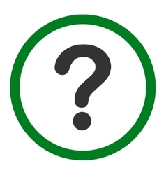 Question flat green and gray colors rounded vector