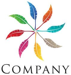 elegant feather emblem design for your business vector image