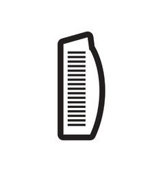 Style black and white icon burj al arab vector