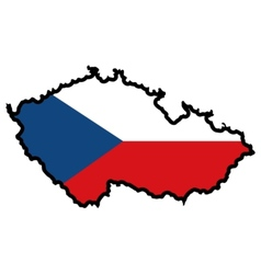 Map in colors of czech republic vector