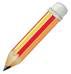 Pencil with sharp lead vector image