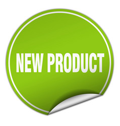 New product round green sticker isolated on white vector