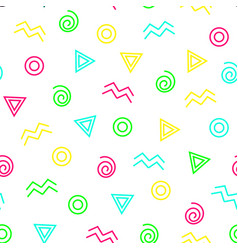 Abstract geometrical color seamless pattern vector