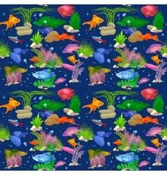 Aquarium fish seamless pattern vector image vector image