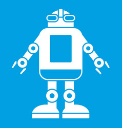 Automation machine robot icon white vector