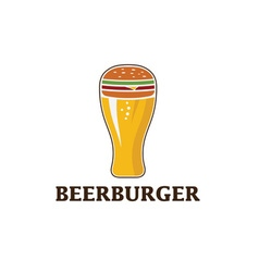 beer and burger concept beerburger vector image