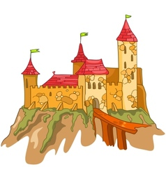 cartoon castle vector image