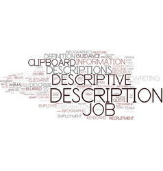 Descriptive word cloud concept vector