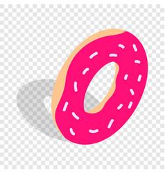 donut isometric icon vector image