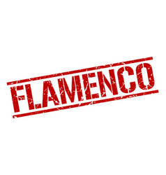 Flamenco stamp vector