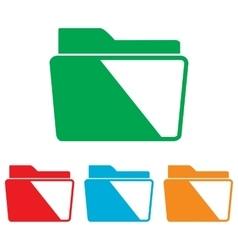Folder sign Colorfull set vector image