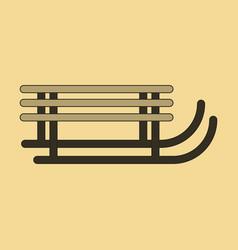 Icon in flat design sleigh vector